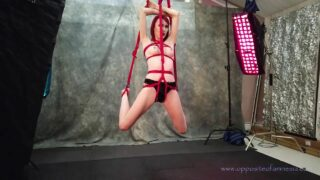 Suspension with topless model Sarah!