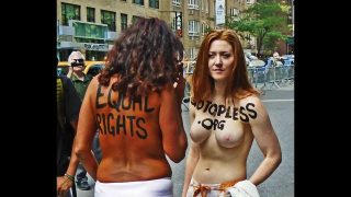 Topless Parade in New York Part I on Sunday August 23, 2015