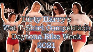 Dirty Harrys wet tshirt competition Bike Week 2021. Shirts get wet at 1:31 please upvote!